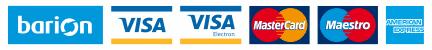 A kényelmes és biztonságos online fizetést a Barion Payment Zrt. biztosítja. MNB engedély száma: H-EN-I-1064/2013 Bankkártya adatai áruházunkhoz nem jutnak el.